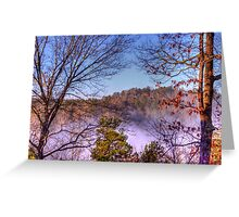 Fog in the Coosawattee River valley Greeting Card