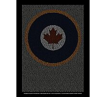 Roll of Honour 75(NZ) Squadron RCAF 'Maple' Photographic Print