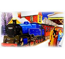 Winter Steam Train Nostalgia Poster