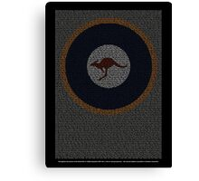 Roll of Honour 75(NZ) Squadron RAAF 'Roo' Canvas Print