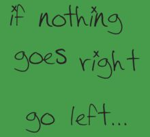 go left... by lalalisa