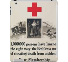 Red Cross first aid 1000000 persons have learned the right waythe Red Cross wayof cheating death from accidents iPad Case/Skin