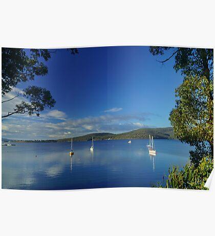 Yachts at Dover, Tasmania, Australia Poster