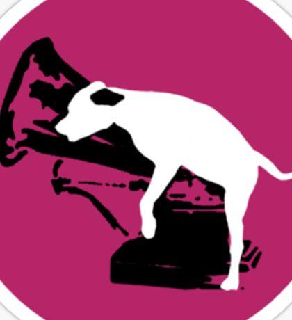 HMV Dog Parody Sticker