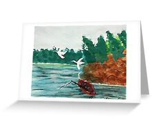 Fishing  day!  revised, watercolor Greeting Card