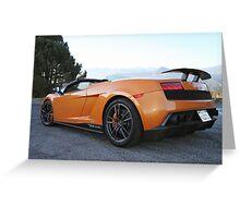 Lamborghini Gallardo LP570-4 Spyder Performante - Rear Greeting Card