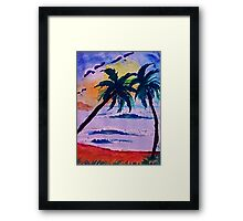 A day at the sea, watercolor Framed Print