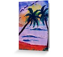 A day at the sea, watercolor Greeting Card