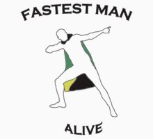 Fastest Man Alive Kids Tee