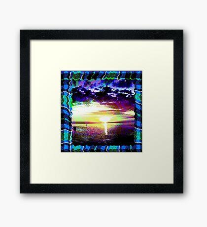 Tartan Sunset  Framed Print