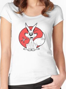 The Fox and The Frog Women's Fitted Scoop T-Shirt