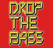 Drop The Bass (yellow) Kids Tee