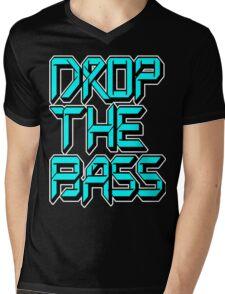 Drop The Bass (cyan) Mens V-Neck T-Shirt