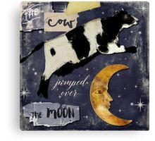 Cow Jumped Over The Moon Canvas Print