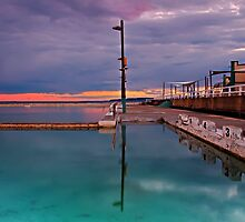 Poles, Sunset, Ocean Baths, Paradise by bazcelt
