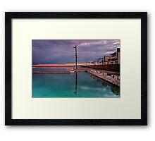 Poles, Sunset, Ocean Baths, Paradise Framed Print