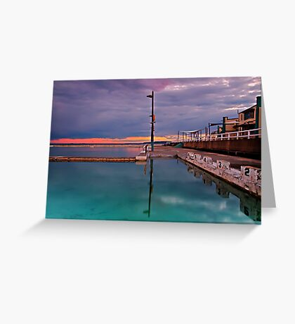 Poles, Sunset, Ocean Baths, Paradise Greeting Card