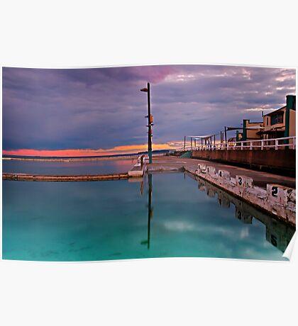 Poles, Sunset, Ocean Baths, Paradise Poster