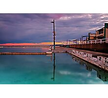 Poles, Sunset, Ocean Baths, Paradise Photographic Print