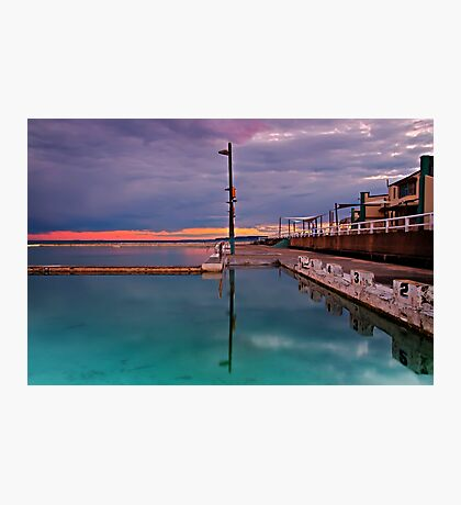 Poles, Sunset, Ocean Baths, Paradise Photographic Print