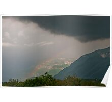 Rainbow over Val D'Isere Poster