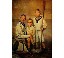 Little Ship Builders Photographic Print