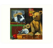 In the Attic - painting Art Print
