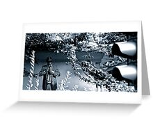 Black & white street art, Cologne Greeting Card