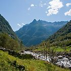 Mountain Valley Panorama, Ticino by Michael Brewer