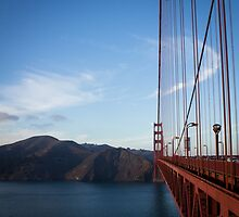 Halfway on the Golden Gate by Eric S