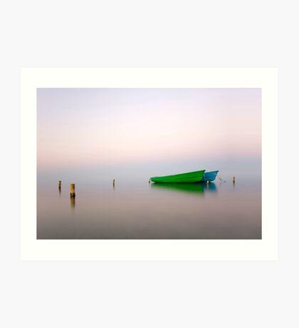 Zen boats Art Print