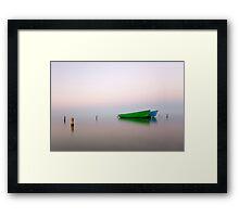 Zen boats Framed Print