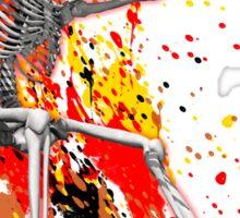 Skateboarding skeleton Sticker