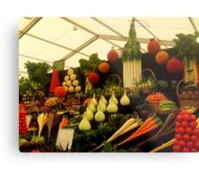 Display of Fruits and Vegetables Metal Print