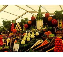 Display of Fruits and Vegetables Photographic Print