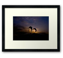 Sunset Love Framed Print