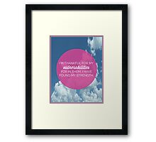 My Vulnerabilities Quote Framed Print