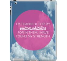 My Vulnerabilities Quote iPad Case/Skin
