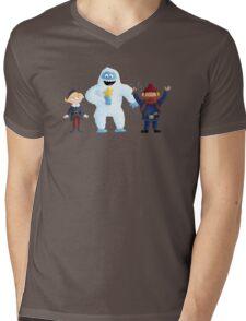 Yukon Bumble and Hermey Mens V-Neck T-Shirt