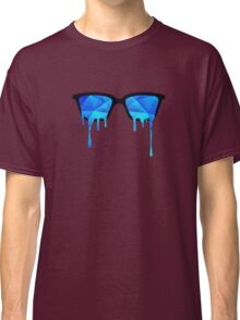 Abstract Polygon Multi Color Cubizm Painting in ice blue Classic T-Shirt