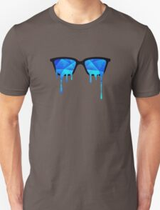 Abstract Polygon Multi Color Cubizm Painting in ice blue Unisex T-Shirt