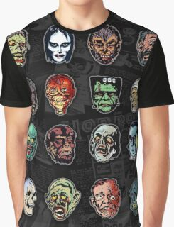 Horror Movie Monster Masks (color) Graphic T-Shirt