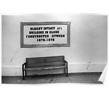Bench in Globe Poster