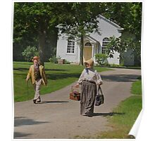 Returning home from church Poster