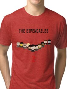 The Expendables 2 in South Park Tri-blend T-Shirt