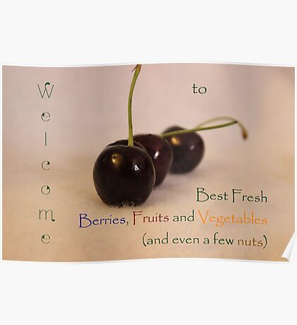 Welcome Banner for Best Fresh Berries, Fruits and Vegetables Challenge Poster