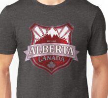 Alberta Canada red grunge shield Unisex T-Shirt