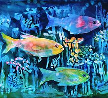 Tie-Dye Fish by arline wagner