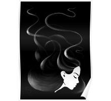 Black hair Poster