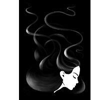 Black hair Photographic Print